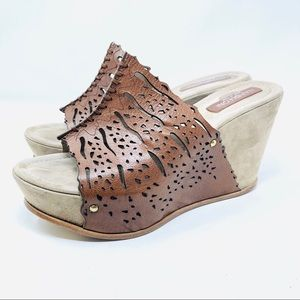 NAPOLEONI wedge sandals, made in Italy